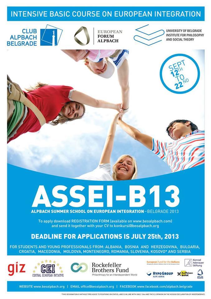 Call for Applications: ASSEI-B13 / Alpbach Summer School on